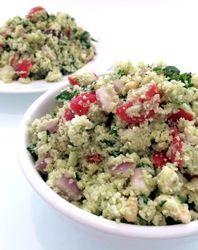 Mediterranean Cauliflower Cous Cous Salad with Lemon Basil Dressing ...