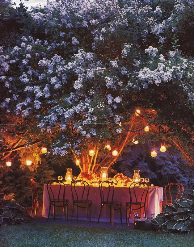 Nighttime Backyard Party : Garden party by night  Outdoor summer soir?e  Pinterest
