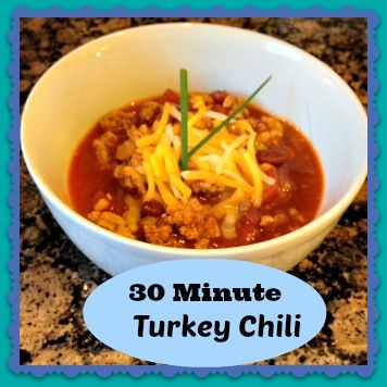 30 Minute Turkey Chili on MyRecipeMagic.com