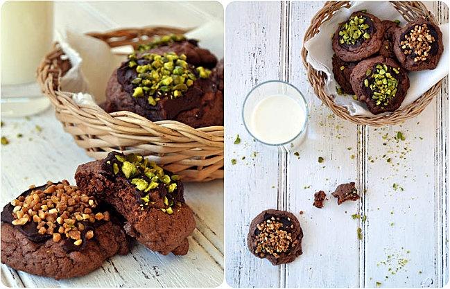 Cookies chocolate topping | Pich à la fraise | Pinterest