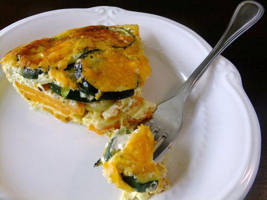 Zucchini & Sweet Potato Frittata | Breakfast | Pinterest
