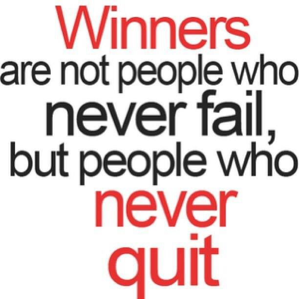 winners never quit sports motivational quotes pinterest
