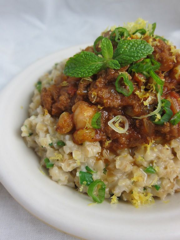 morrocan beef chili with chickpeas and raisins