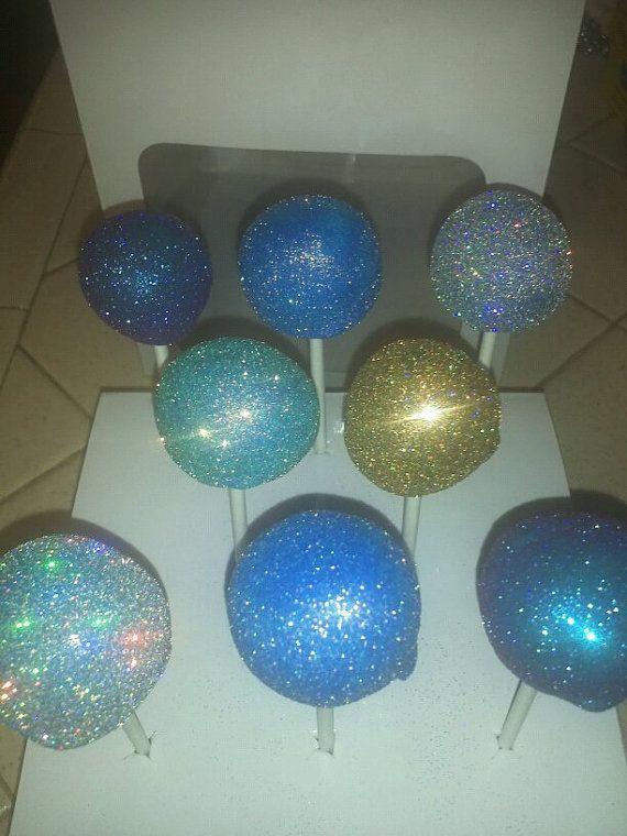 Glitter cake pops!!! AMAZING CAKES! Pinterest