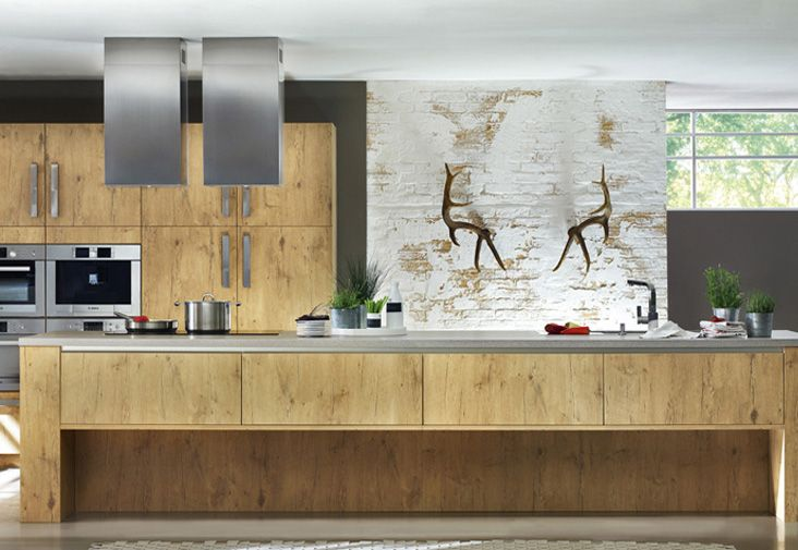 Landelijke greeploze keuken.  casa  Pinterest