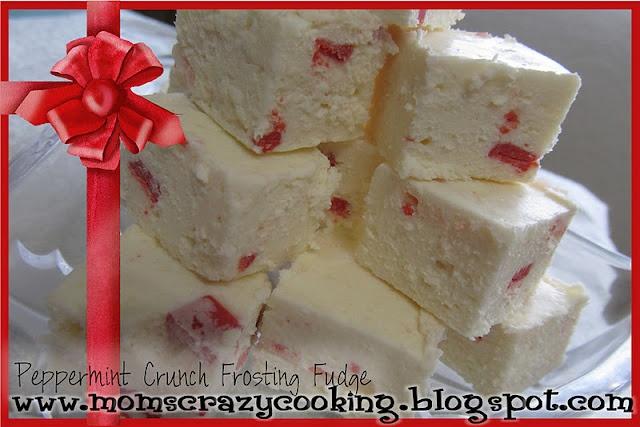 Peppermint Crunch Frosting Fudge | Gluten Free for Kylie | Pinterest