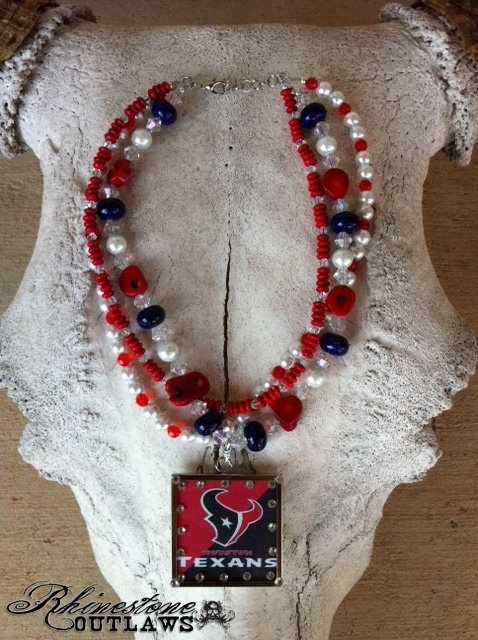 Houston Texans Necklace and