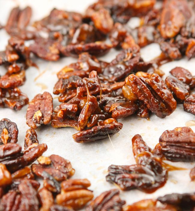 candied pecans.. perfect for my re-creation of my favorite cactus club ...