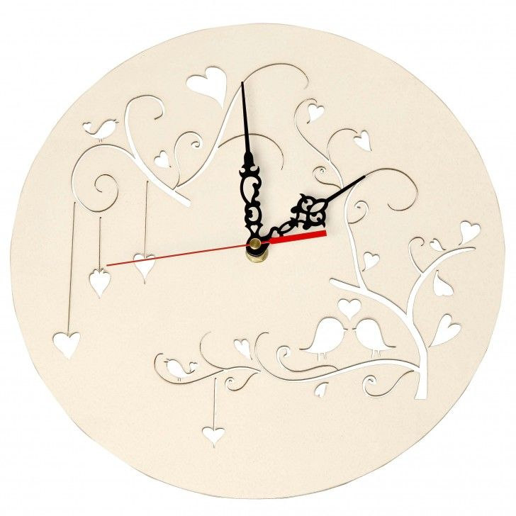 Tree of hearts wood clock in white awesome ideas pinterest