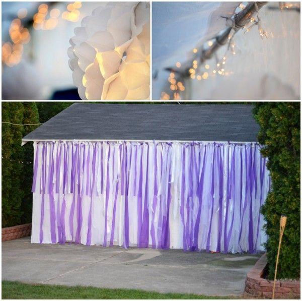Purple Backyard Wedding : Back Yard Weddings On a Budget  Purple backyard wedding photo  The