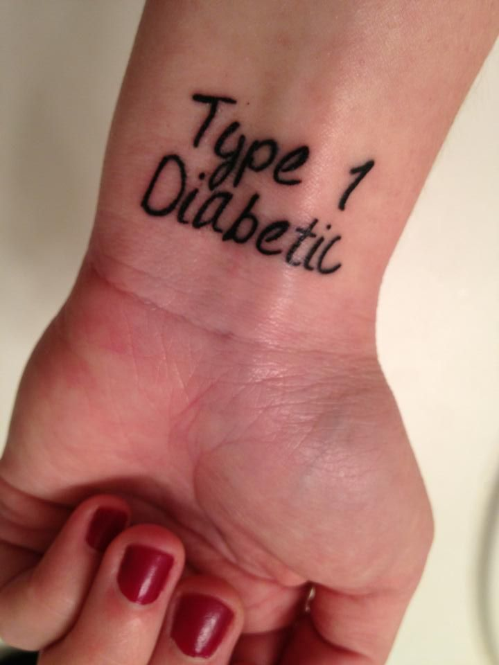 Type 1 Diabetic tattoo...no more annoying medical alert bracelet for me!