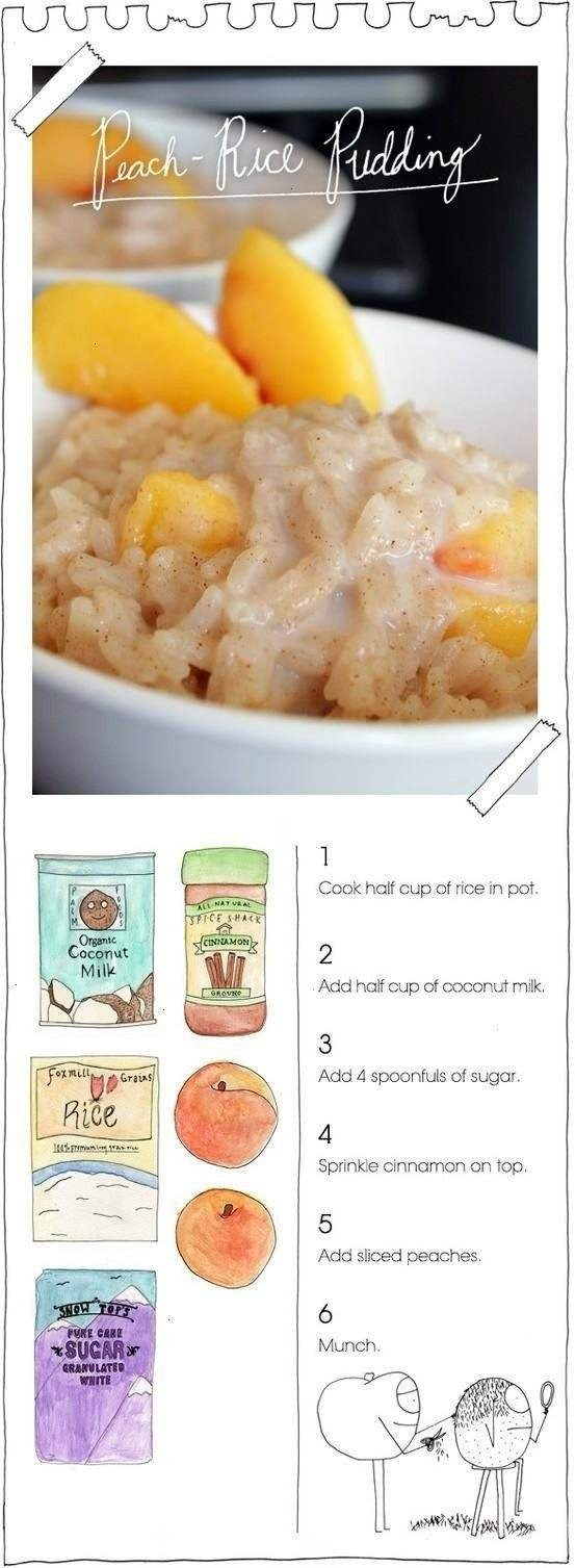 Peach rice pudding - vegan | Food | Pinterest