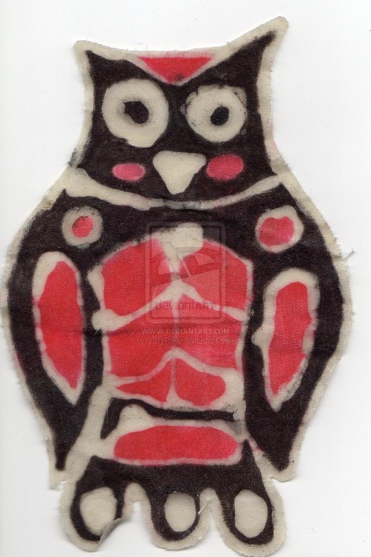 Batik owl by ArtyRee.deviantart.com