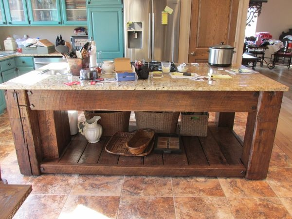 Reclaimed Barn Wood Kitchen Island Old Things Repurposed Pinterest