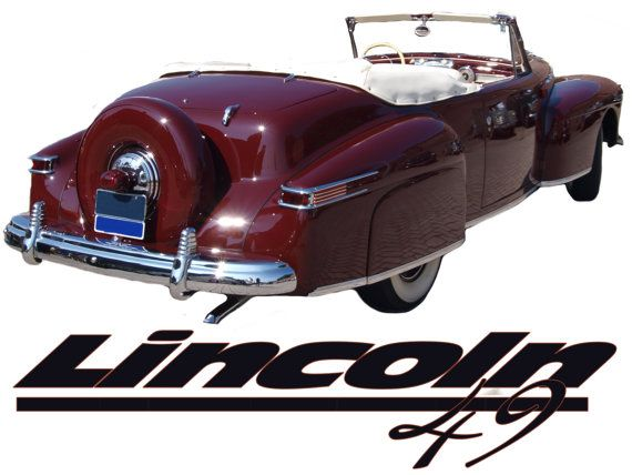 1949 lincoln continental t shirt this is a 49 lincoln cabriolete con. Black Bedroom Furniture Sets. Home Design Ideas