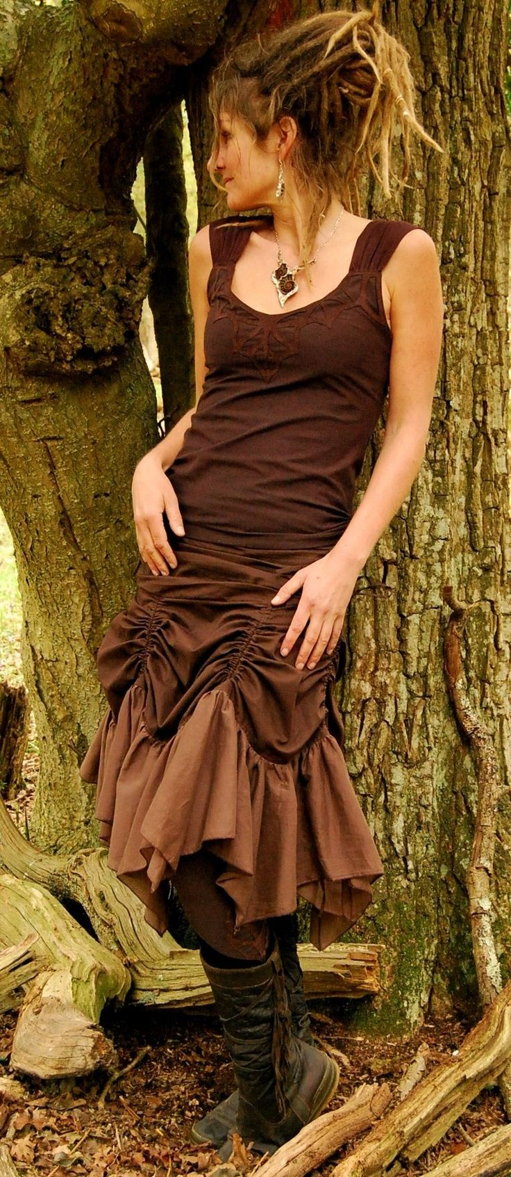Skirt, Funky Steam Punk Clothing, Faerie Clothing, Goddess Clothing