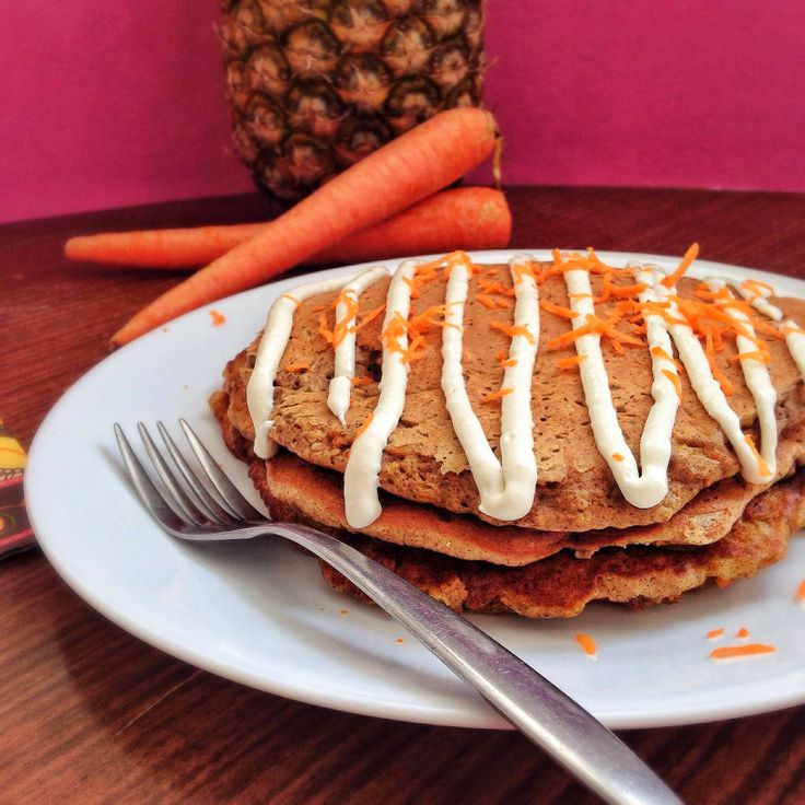 Carrot Cake Protein Pancakes Recipe — Dishmaps