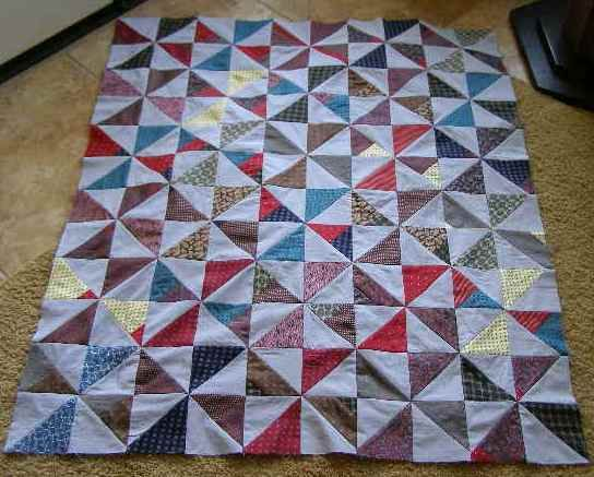 Necktie Quilt Patterns For Beginners : Pinwheel Quilt Top from Grandpa s Ties quilting Pinterest