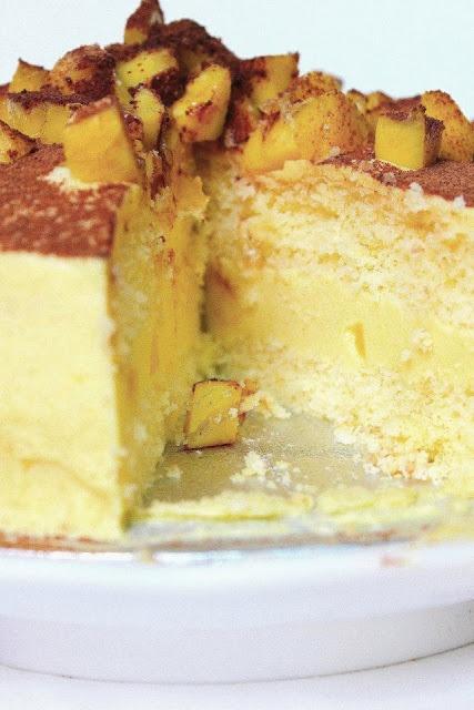Mango sponge mousse layer cake | Cakes | Pinterest