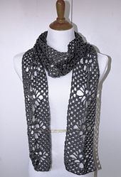 crochet narrow scarf on Etsy, a global handmade and