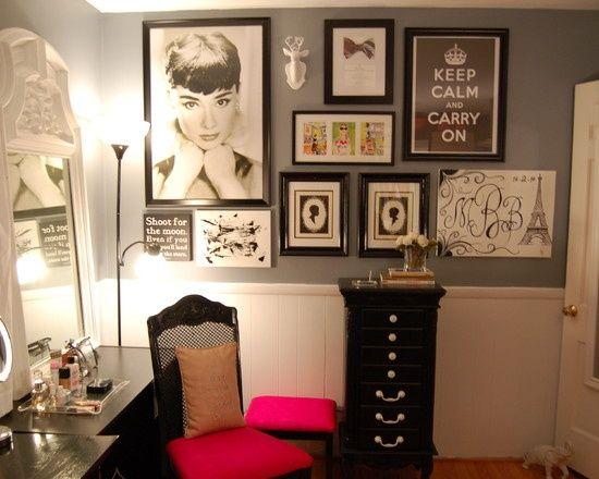 Audrey hepburn in paris room decor my vanity room for Audrey hepburn bedroom ideas