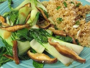Baby bok choy with Shiitake mushrooms | Recipes: Vegetarian/Vegan | P ...