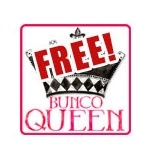 """Free printable """"Bunco Queen"""" scoresheet and decorations pack"""