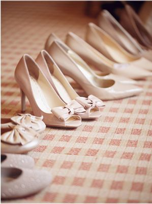 Neutral Bridesmaids Shoes - this could be really nice with grey