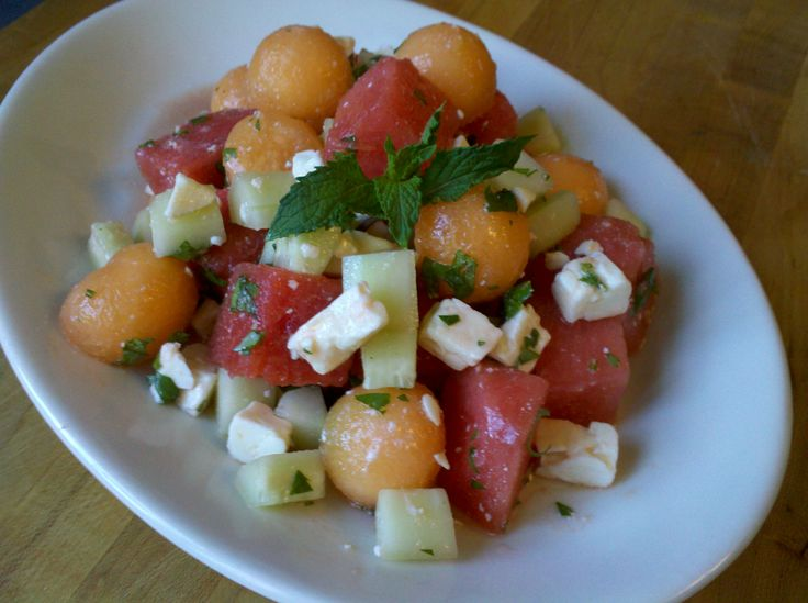 Watermelon & Feta Salad with Mint | Queen of the Pantry's Kitchen | P...
