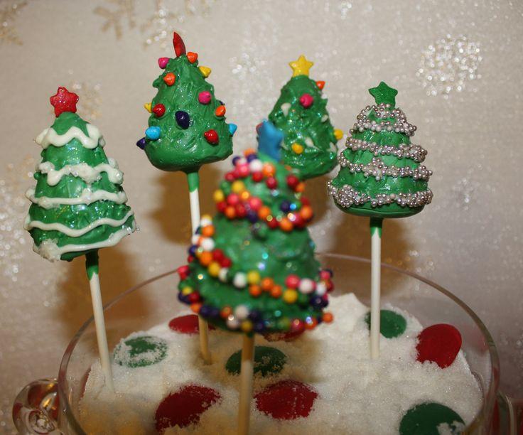Christmas Cake Pop Ideas Pinterest : Christmas trees Cake Pops Sugar Rush Pinterest