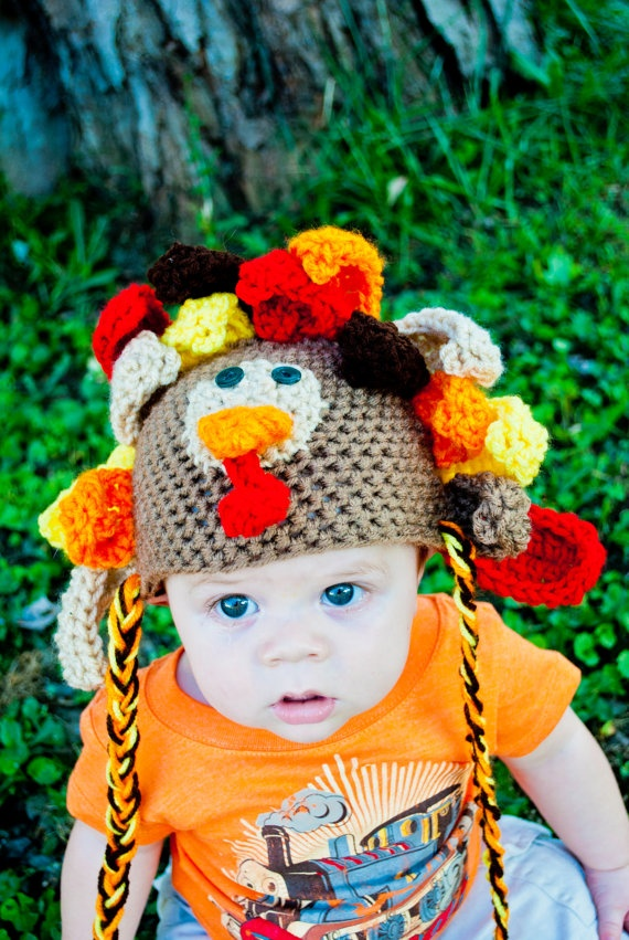 Turkey Crochet Hat