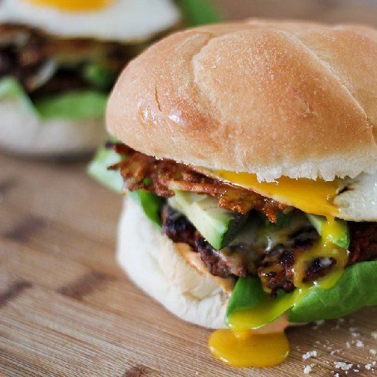 juicy cheeseburger spiked with Mexican chorizo, spicy mayonnaise ...