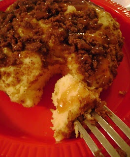 MINI COFFEE CAKE FOR THE MICROWAVE | Deliciousness | Pinterest