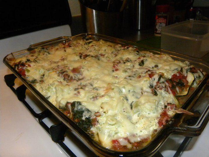 No-Pasta Lasagna >> just call it a veggie casserole! sounds good ...