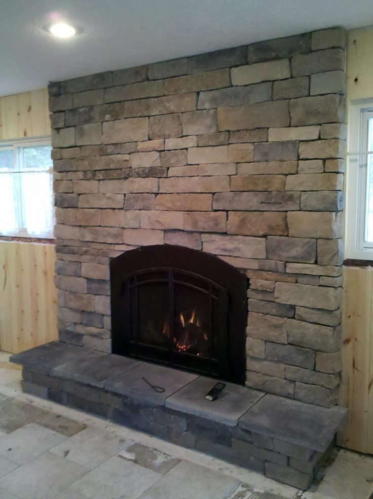stone front fireplace our castle pinterest