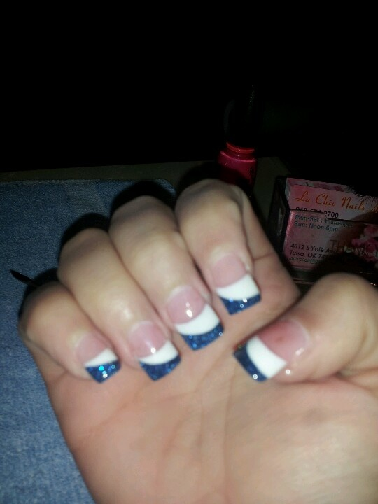 Blue and white solar nails | Nails | Pinterest