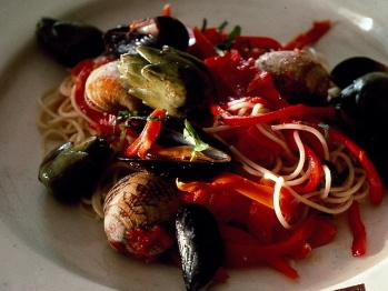 Pasta with Clams Mussels and Sausage | Recipe