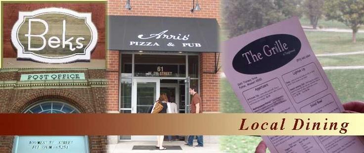 Fulton Missouri Area Dining Guide | My Hometown Fulton Missouri | Pin ...