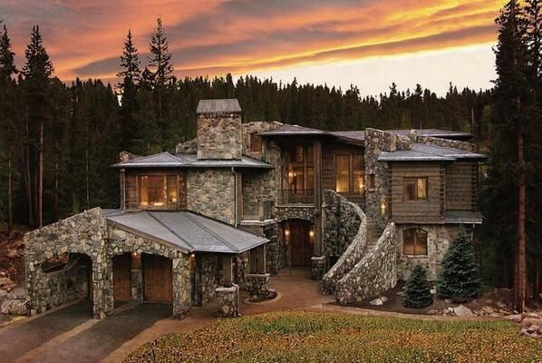 Stone house in the mountains dream homes cabins and for Mountain dream homes