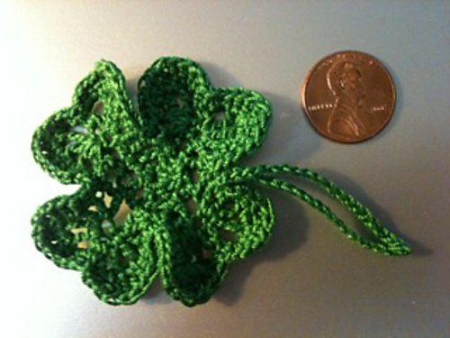 Free Crochet Patterns Four Leaf Clover : four-leaf clover, free pattern Crochet Pinterest