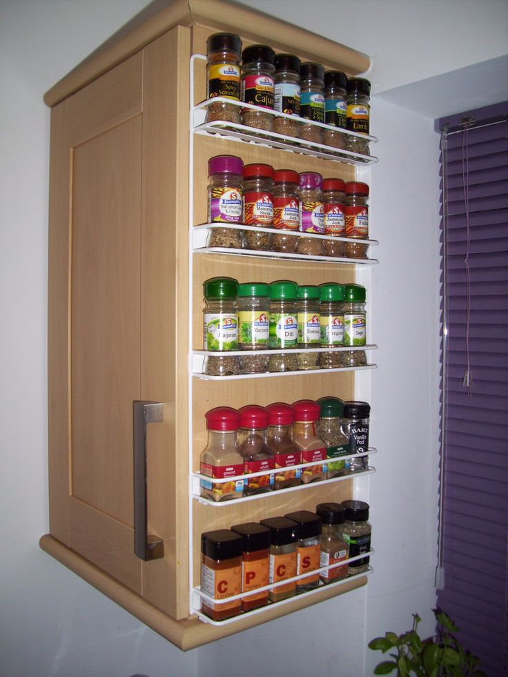 Big Spice Rack And Making Use Of The Side Of An End