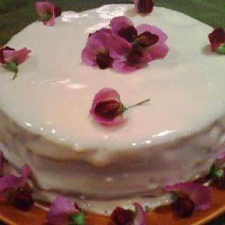 Chocolate zucchini cake with raisins, almonds and a cream cheese ...