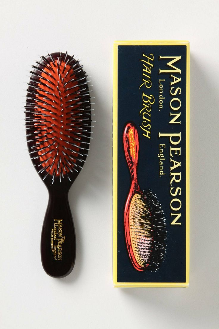 Mason Pearson Brush - expensive but worth it for beautiful hair.  Hairbrush of the celebs!!!