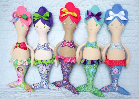 Mermaid doll - I'm going to try to make this for little ones 4th B-day