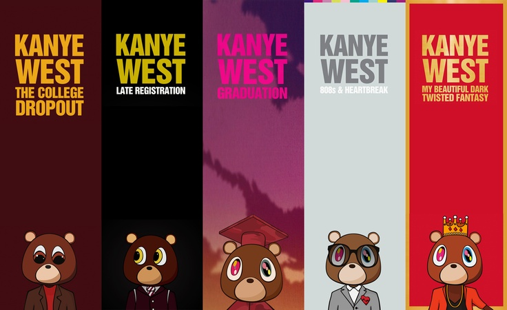 Kanye West Bear Mascot Albums Art Pinterest Album Bears