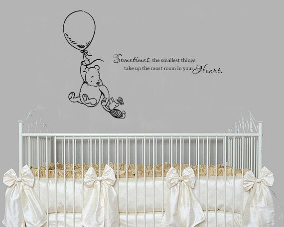 Classic winnie the pooh sometimes the smallest things baby for Classic winnie the pooh wall mural