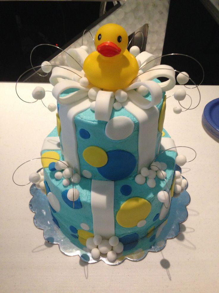 rubber ducky baby shower cake geboortetaart pinterest
