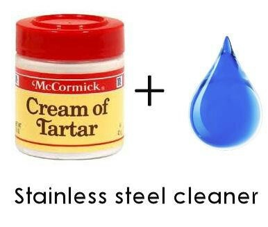how to get stainless steel pots clean