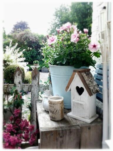 My garden shabby deko! Garden Pinterest