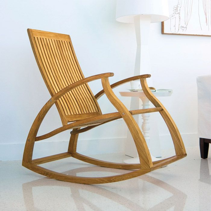 Aria Contemporary Modern Teak Rocking Chair Westminster Teak Outdoo…